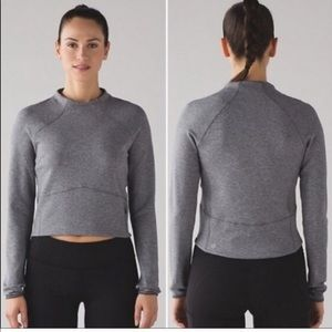 Lululemon Gray Cropped high neck sweater